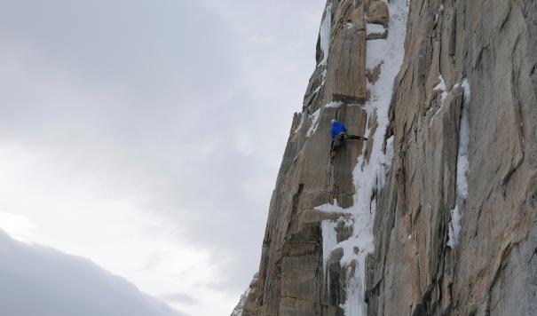 Climbing Cerro Murallon