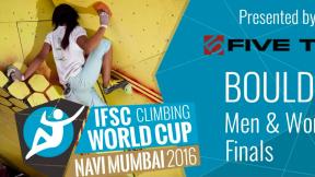 IFSC Climbing World Cup Navi Mumbai 2016 - Bouldering - Finals