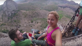 Sasha DiGiulian Climbing Big Walls In Brazil