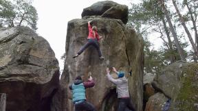 Fil à Plomb (7b+) Rocher d'Avon, Fontainebleau