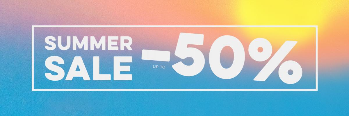 Summer Sale! Up To 50% Off