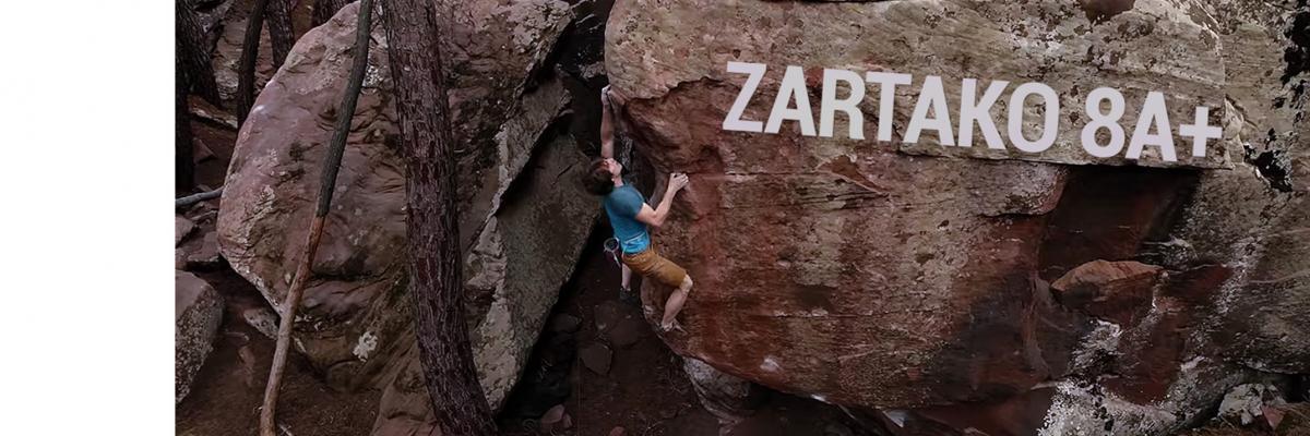 Nils Favre Climbs Highball Zartako 8A+