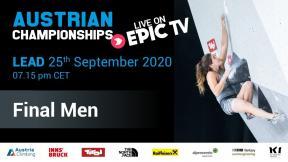 Austrian Climbing Championships 2020 | MEN'S LEAD FINALS