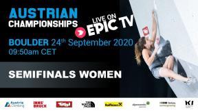 Austrian Climbing Championships 2020 | WOMEN'S BOULDER SEMI-FINAL