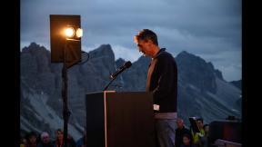 Reinhold Scherer at David Lama memorial