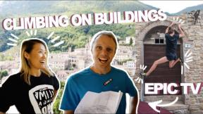 WE CLIMB WITH EPIC TV ON BUILDINGS : Frasassi Climbing Festival