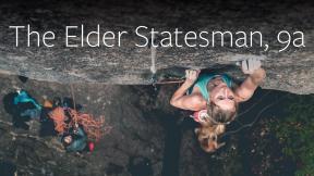 Matilda Söderlund Climbs The Elder Statesman 9a