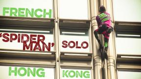 'French Spiderman' climbs Hong Kong building