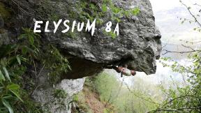 'Elysium' 8a at the Kraken, Tighnabruaich Viewpoint, Scotland