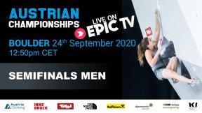 Austrian Climbing Championships 2020 | MEN'S BOULDER SEMI-FINAL