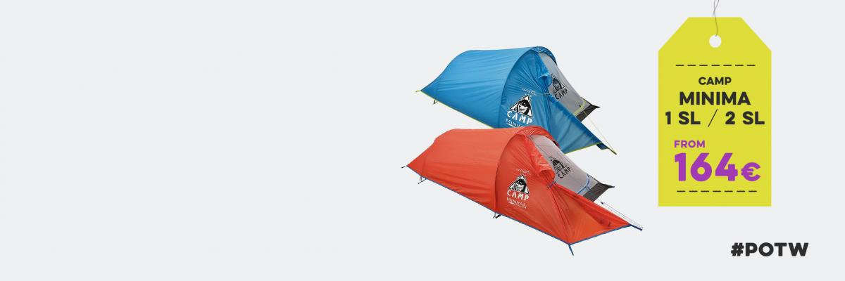 Easy camping with minimal effort. Time to sleep under the stars in Camp Minima 1 and 2 SL.